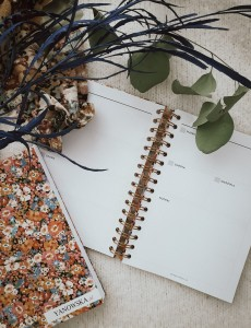 Undated planner with inserts, FLORAL AUTUMN